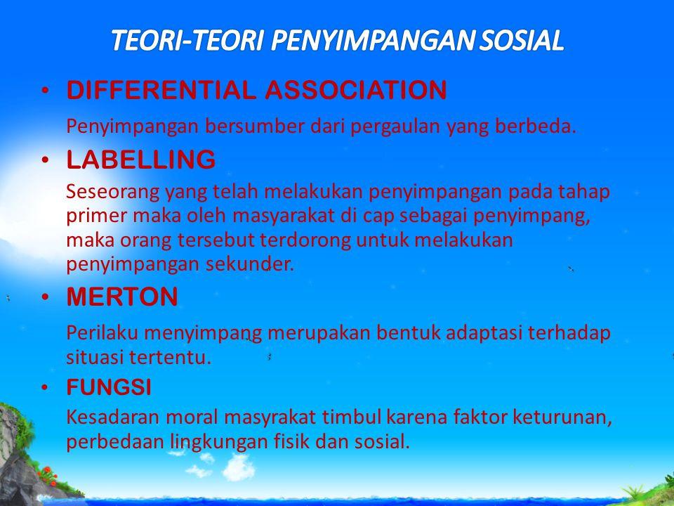 TEORI-TEORI PENYIMPANGAN SOSIAL