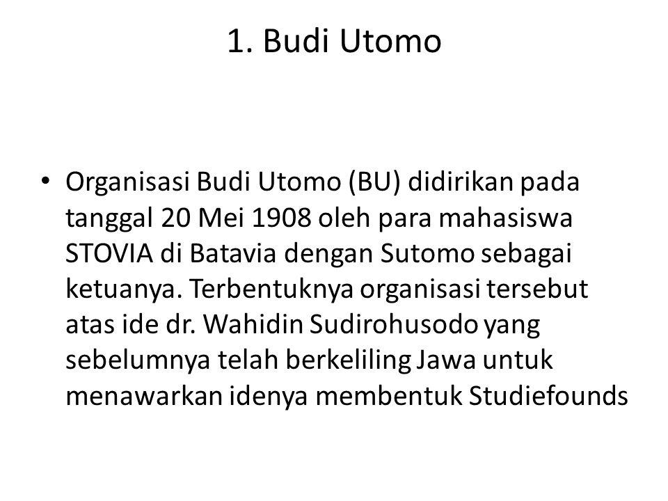 1. Budi Utomo