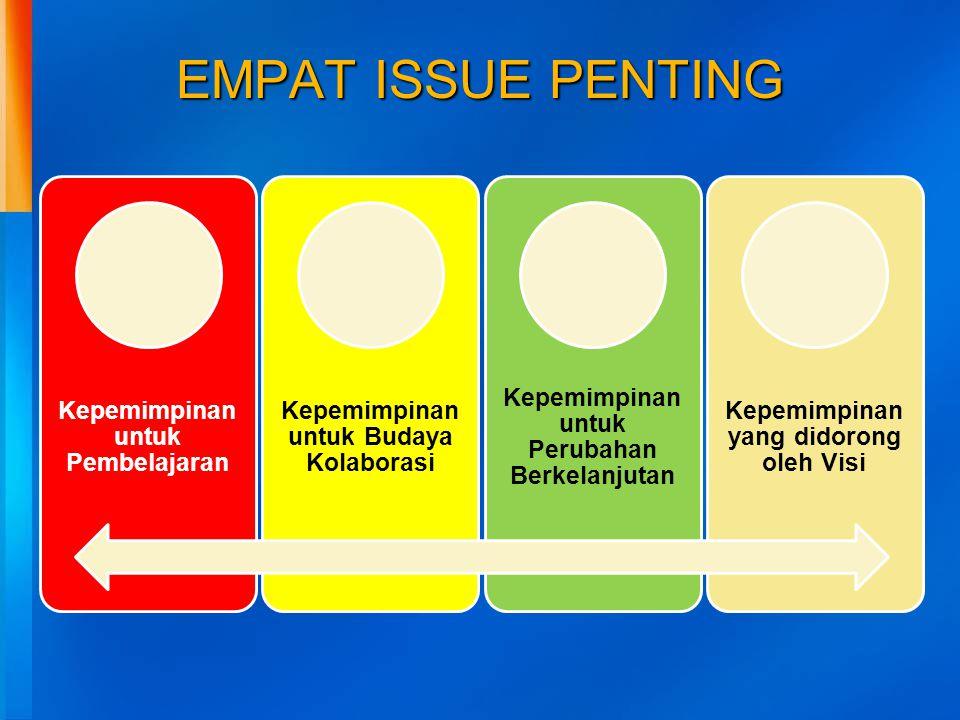 EMPAT ISSUE PENTING Kepemimpinan untuk Pembelajaran