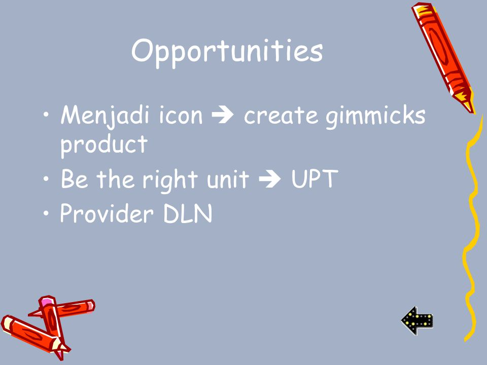 Opportunities Menjadi icon  create gimmicks product