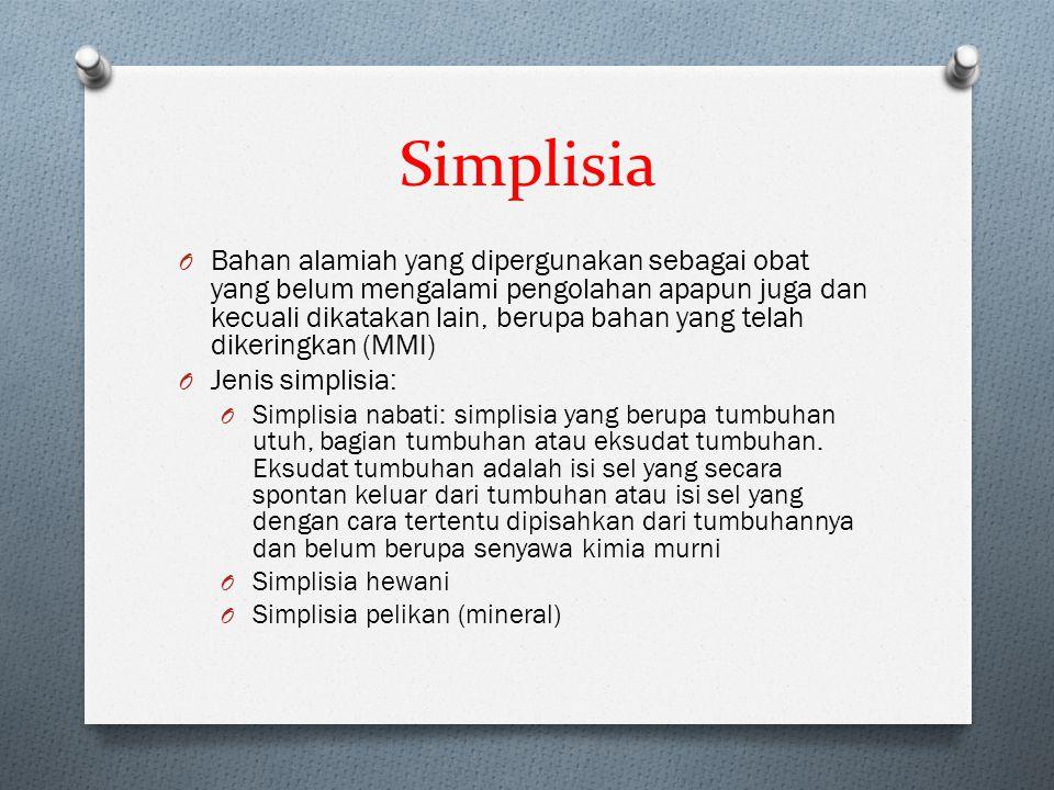 Simplisia