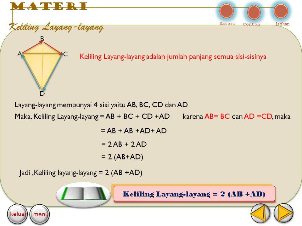 Keliling Layang-layang = 2 (AB +AD)