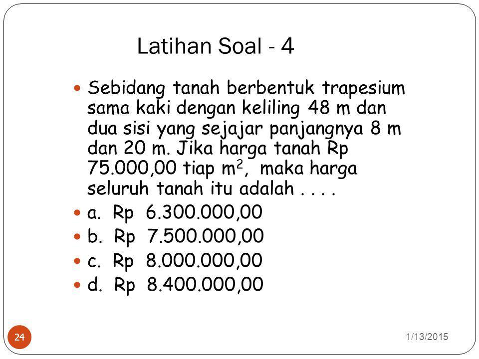 Latihan Soal - 4