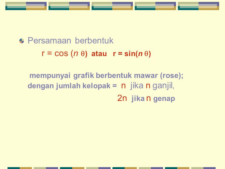 r = cos (n ) atau r = sin(n )