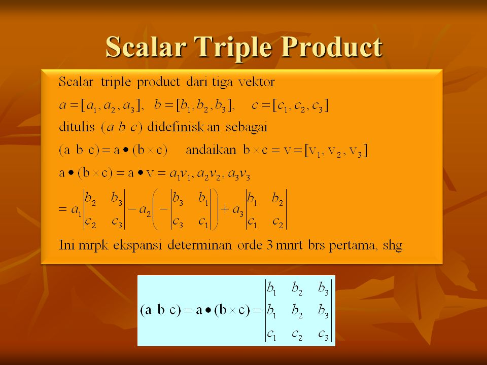 Scalar Triple Product