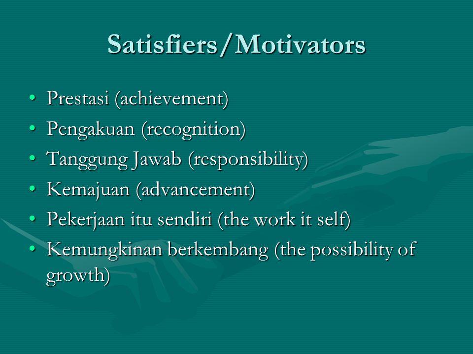 Satisfiers/Motivators