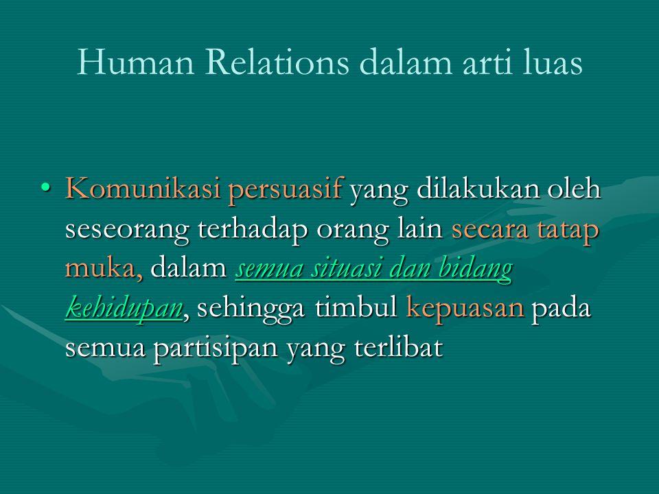Human Relations dalam arti luas