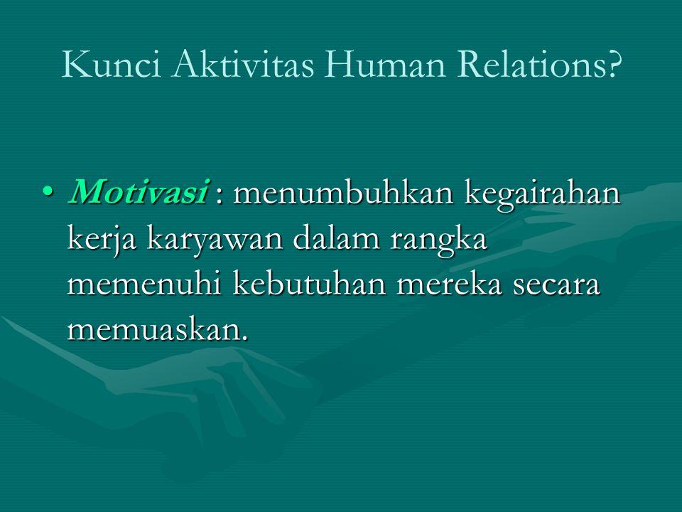 Kunci Aktivitas Human Relations