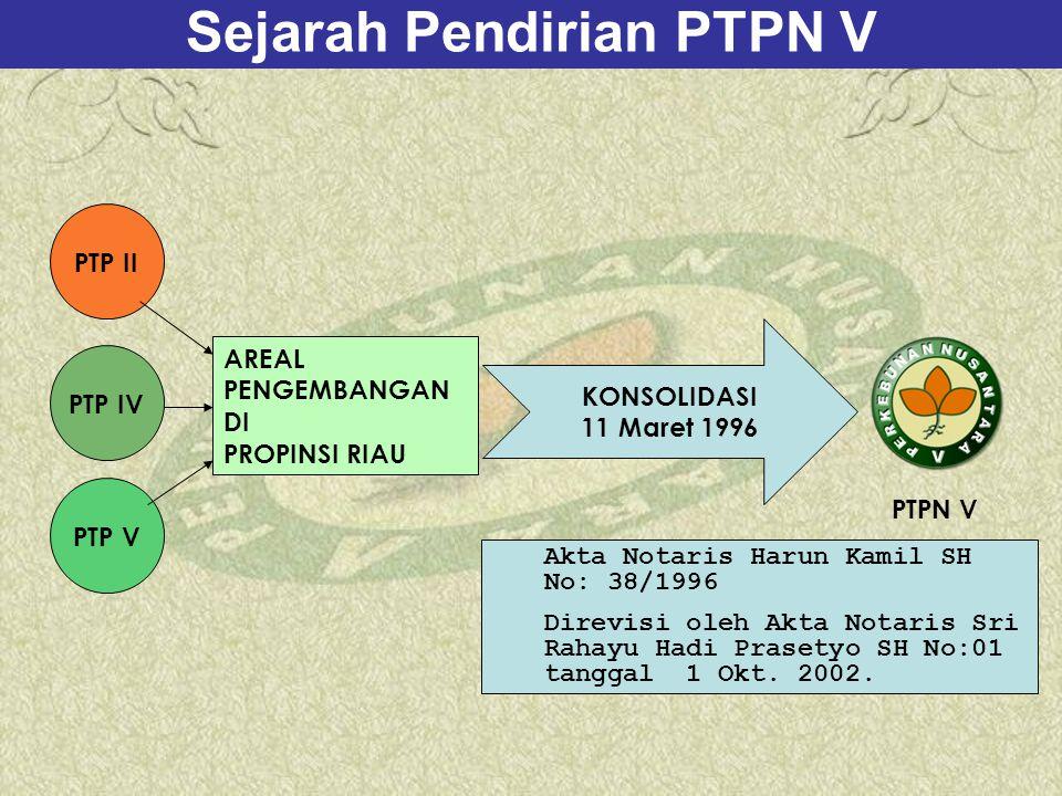 Sejarah Pendirian PTPN V