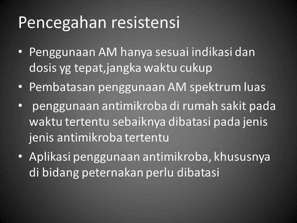 Pencegahan resistensi