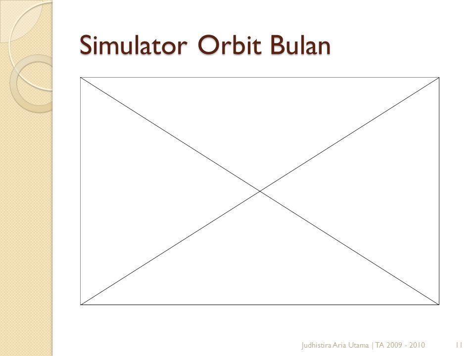 Simulator Orbit Bulan Judhistira Aria Utama | TA 2009 - 2010