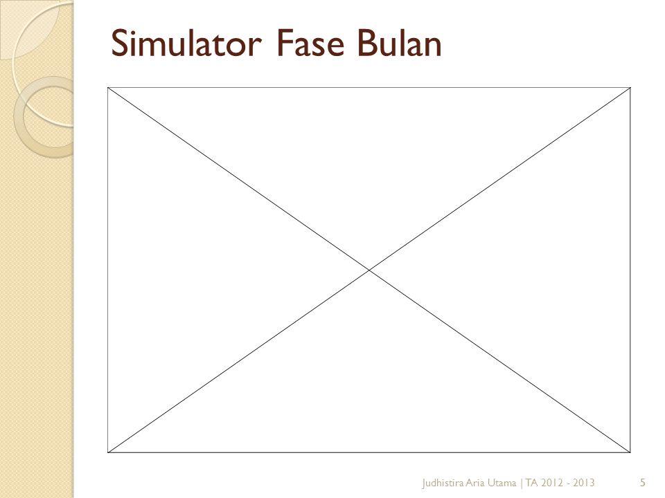 Simulator Fase Bulan Judhistira Aria Utama | TA 2012 - 2013 5