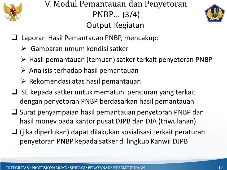V. Modul Pemantauan dan Penyetoran PNBP... (3/4)