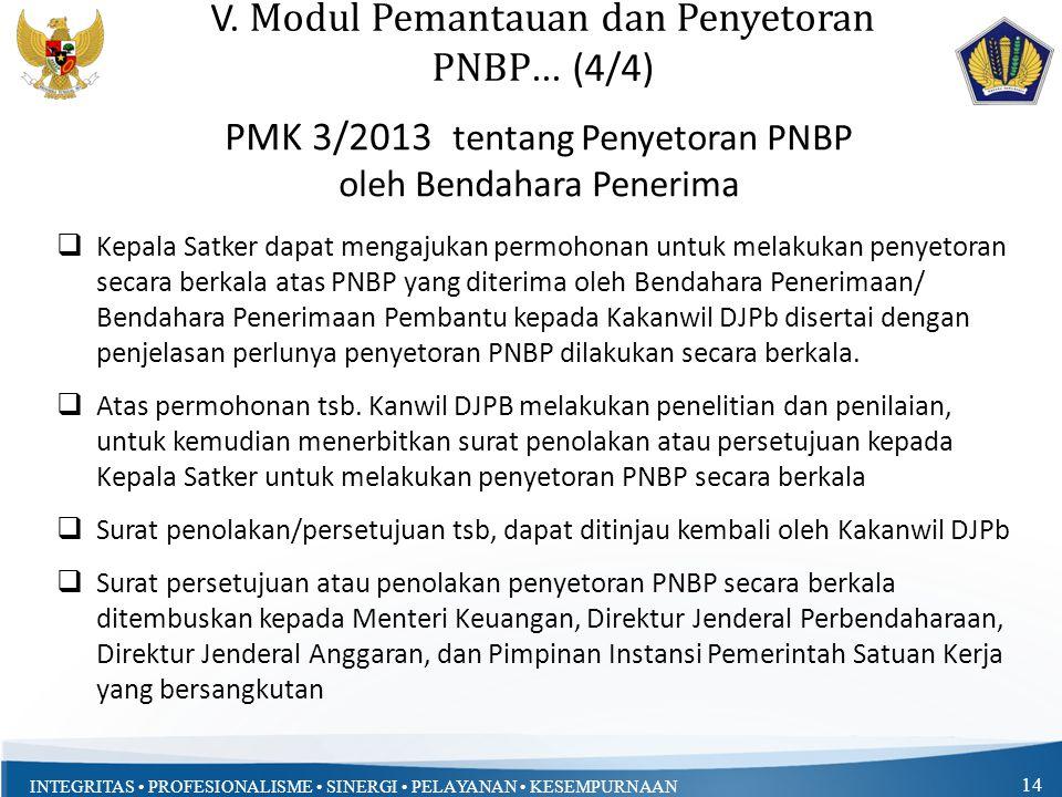 V. Modul Pemantauan dan Penyetoran PNBP... (4/4)