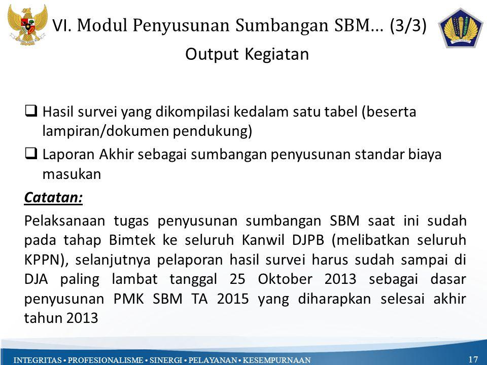 VI. Modul Penyusunan Sumbangan SBM... (3/3)