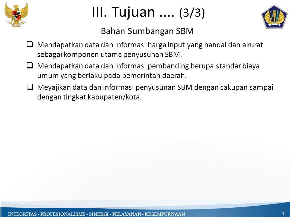 III. Tujuan .... (3/3) Bahan Sumbangan SBM