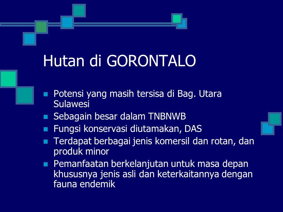 Hutan di GORONTALO Potensi yang masih tersisa di Bag. Utara Sulawesi