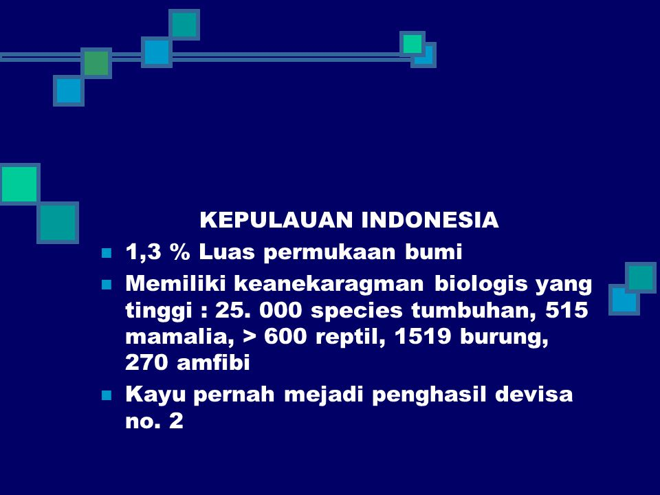 KEPULAUAN INDONESIA 1,3 % Luas permukaan bumi.