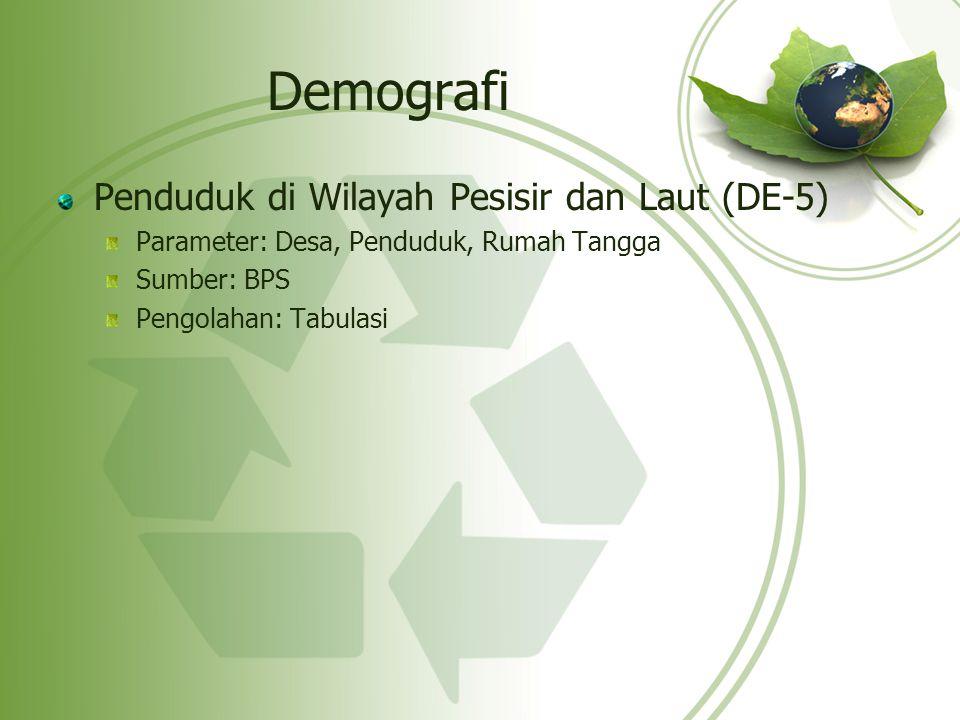 Demografi Penduduk di Wilayah Pesisir dan Laut (DE-5)