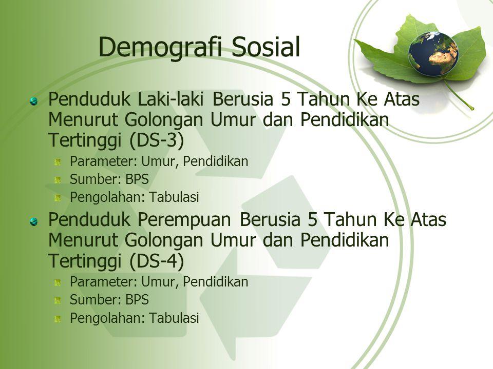 Demografi Sosial Penduduk Laki-laki Berusia 5 Tahun Ke Atas Menurut Golongan Umur dan Pendidikan Tertinggi (DS-3)
