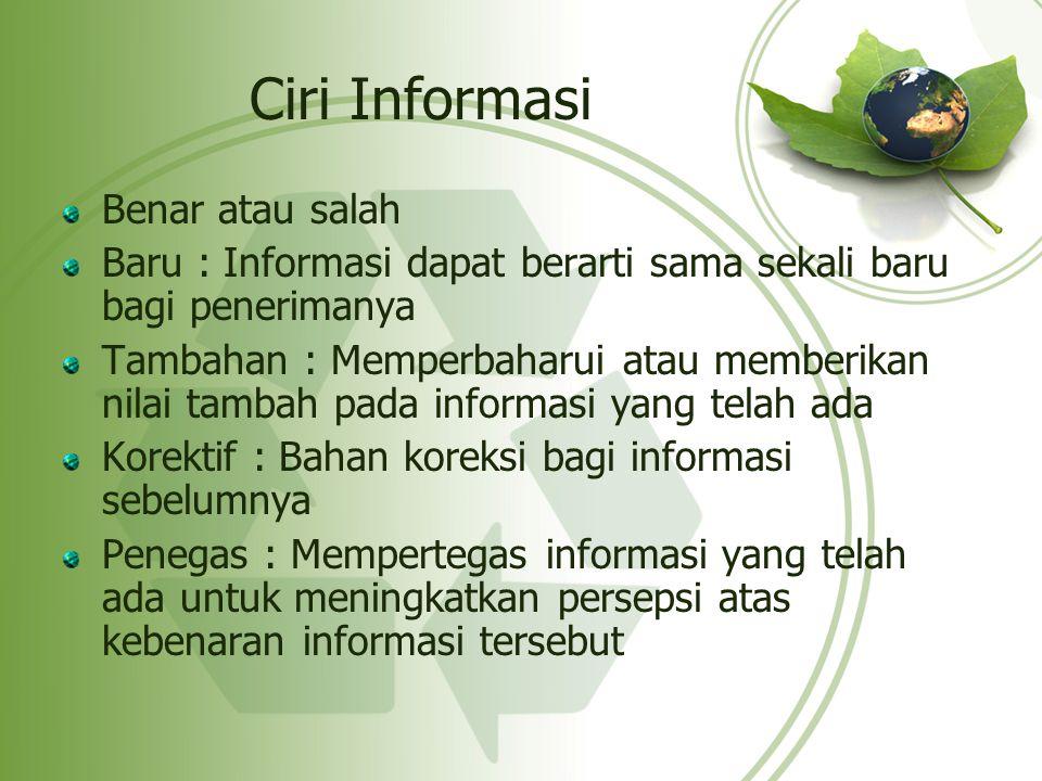 Ciri Informasi Benar atau salah