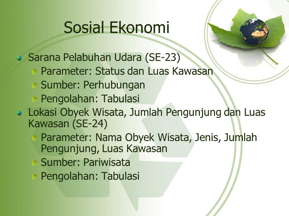 Sosial Ekonomi Sarana Pelabuhan Udara (SE-23)