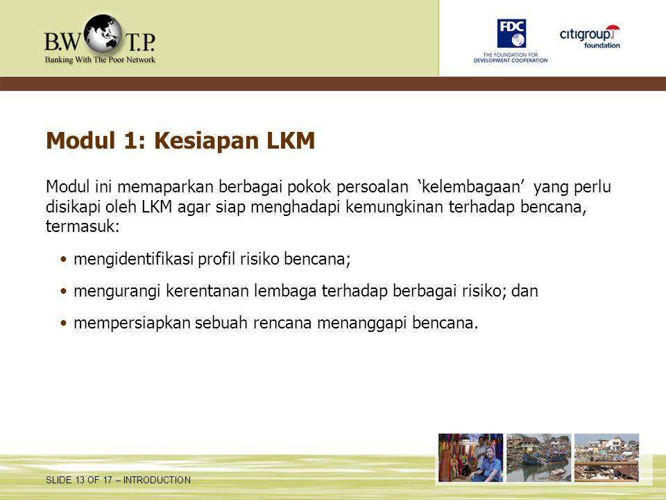 Modul 1: Kesiapan LKM