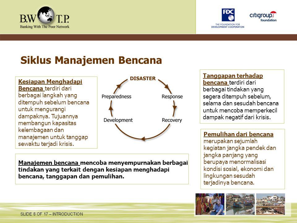 Siklus Manajemen Bencana