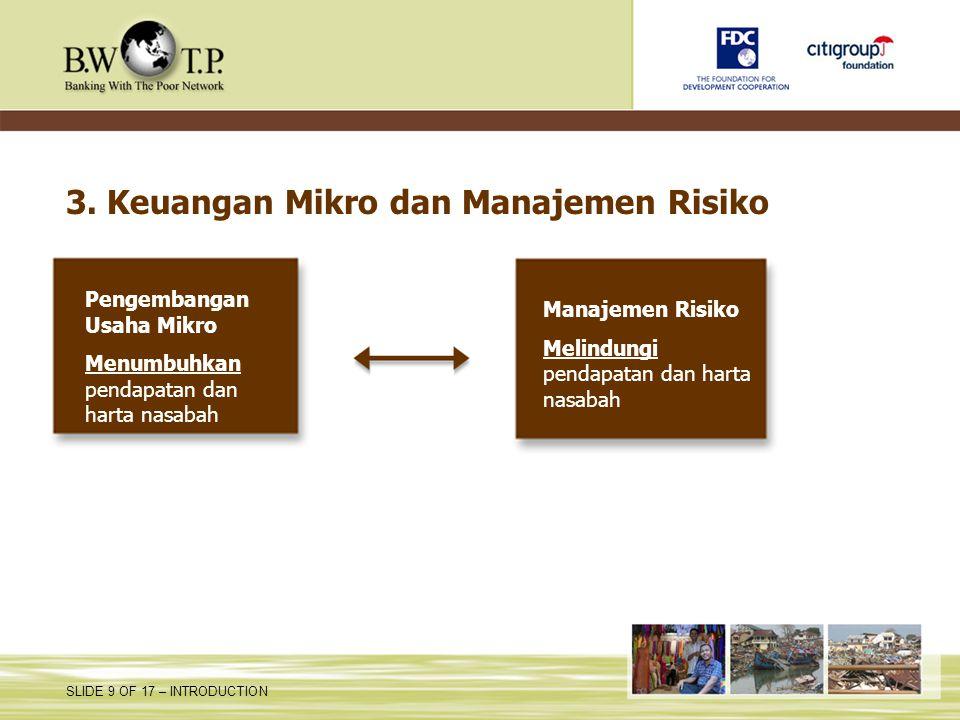 3. Keuangan Mikro dan Manajemen Risiko