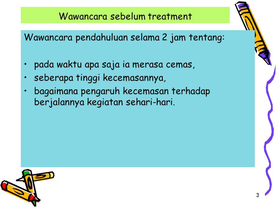 Wawancara sebelum treatment