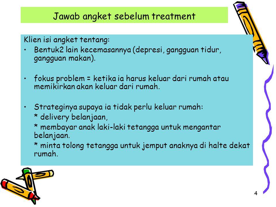 Jawab angket sebelum treatment