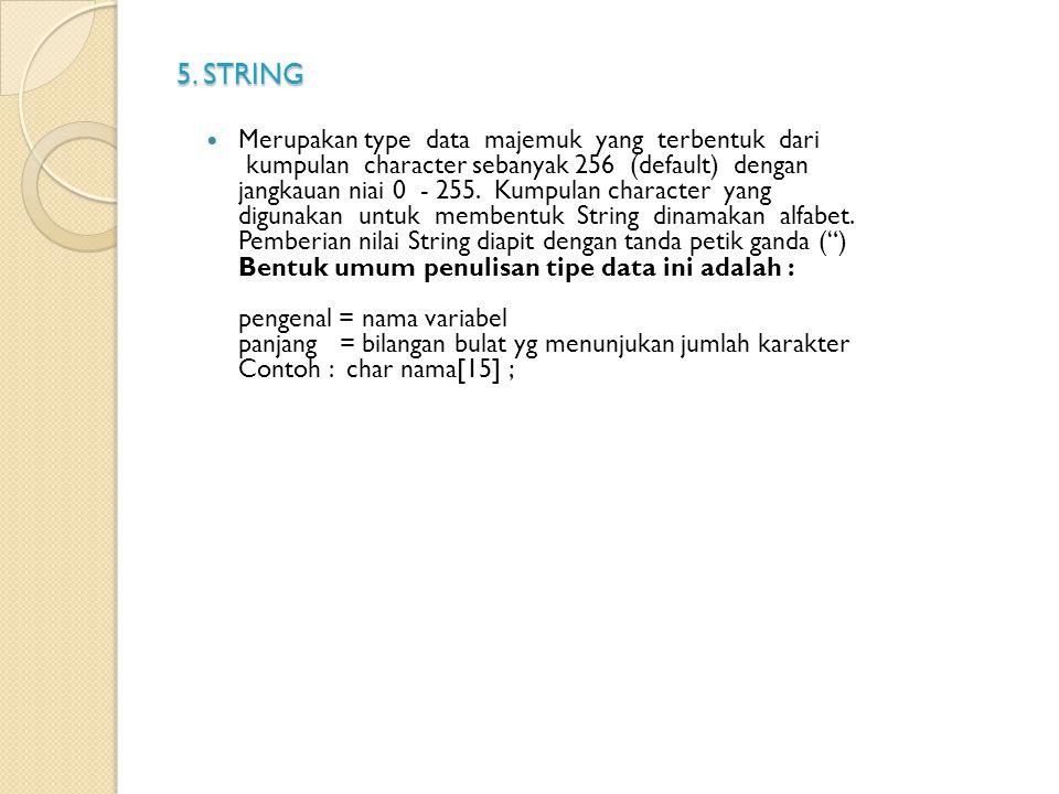 5. STRING
