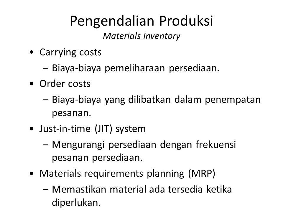 Pengendalian Produksi Materials Inventory