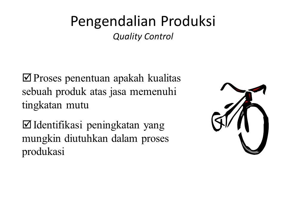 Pengendalian Produksi Quality Control