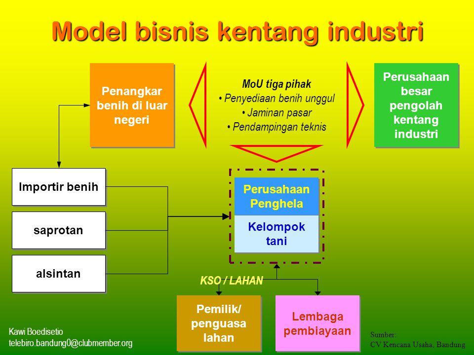 Model bisnis kentang industri