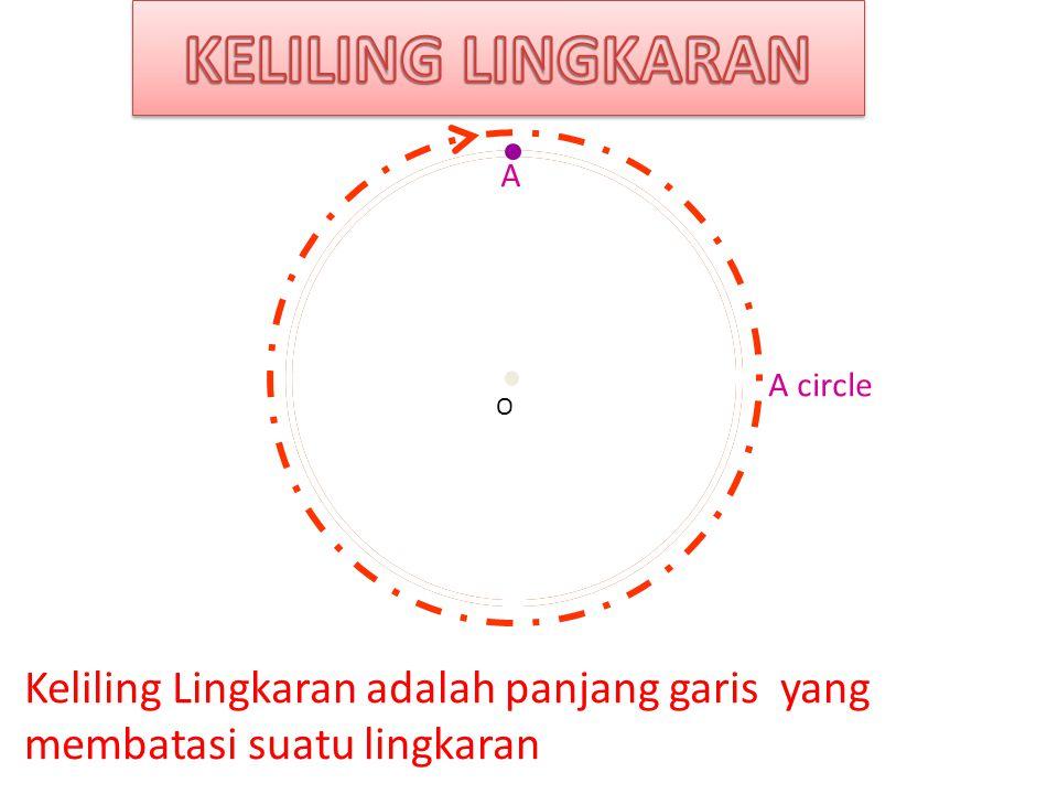 KELILING LINGKARAN A. Centre. A circle. O.