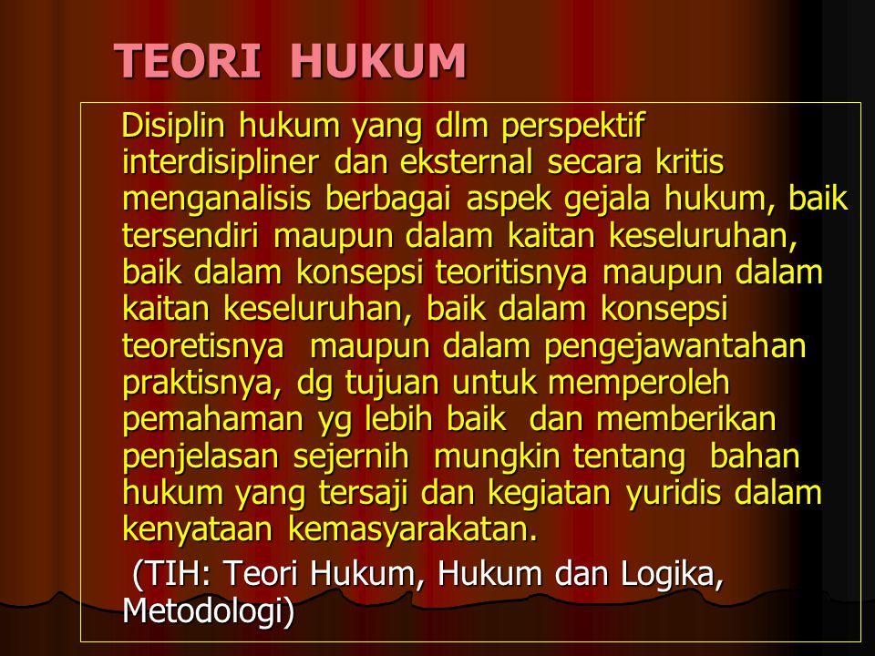 TEORI HUKUM
