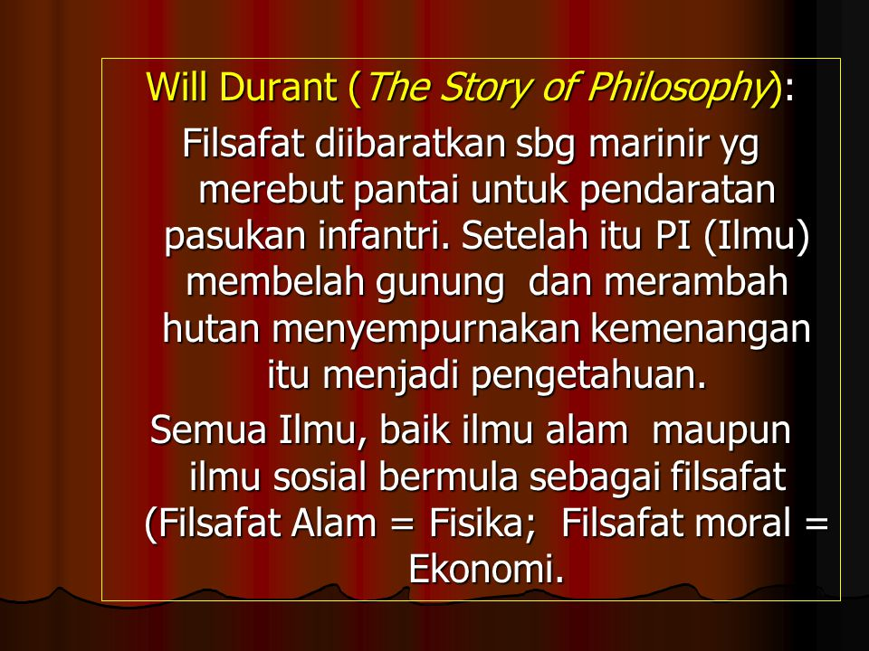 Will Durant (The Story of Philosophy):