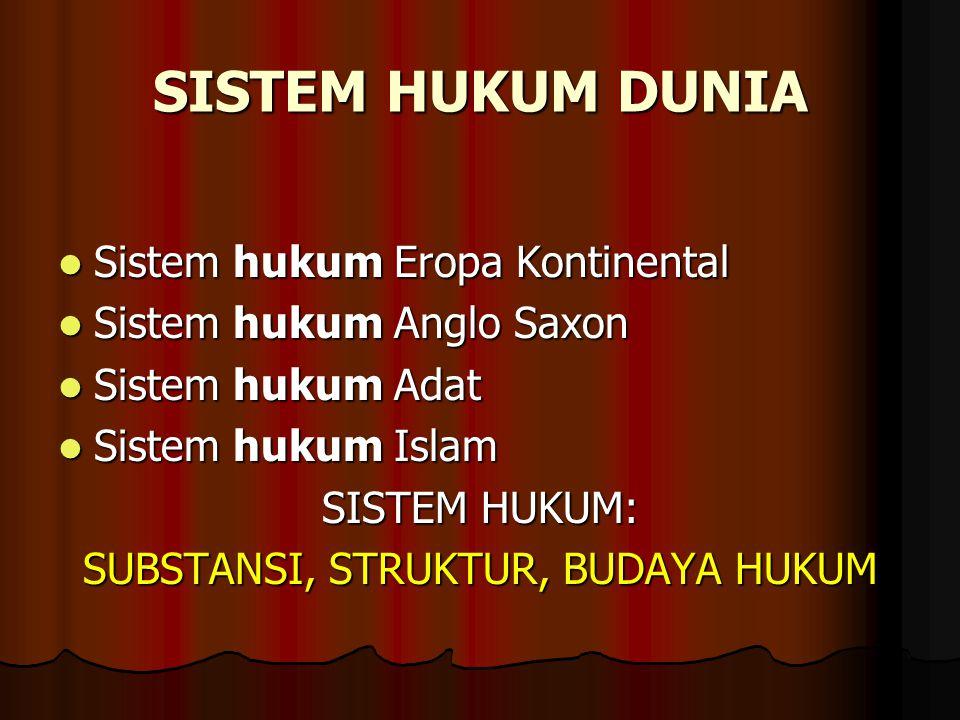 SUBSTANSI, STRUKTUR, BUDAYA HUKUM
