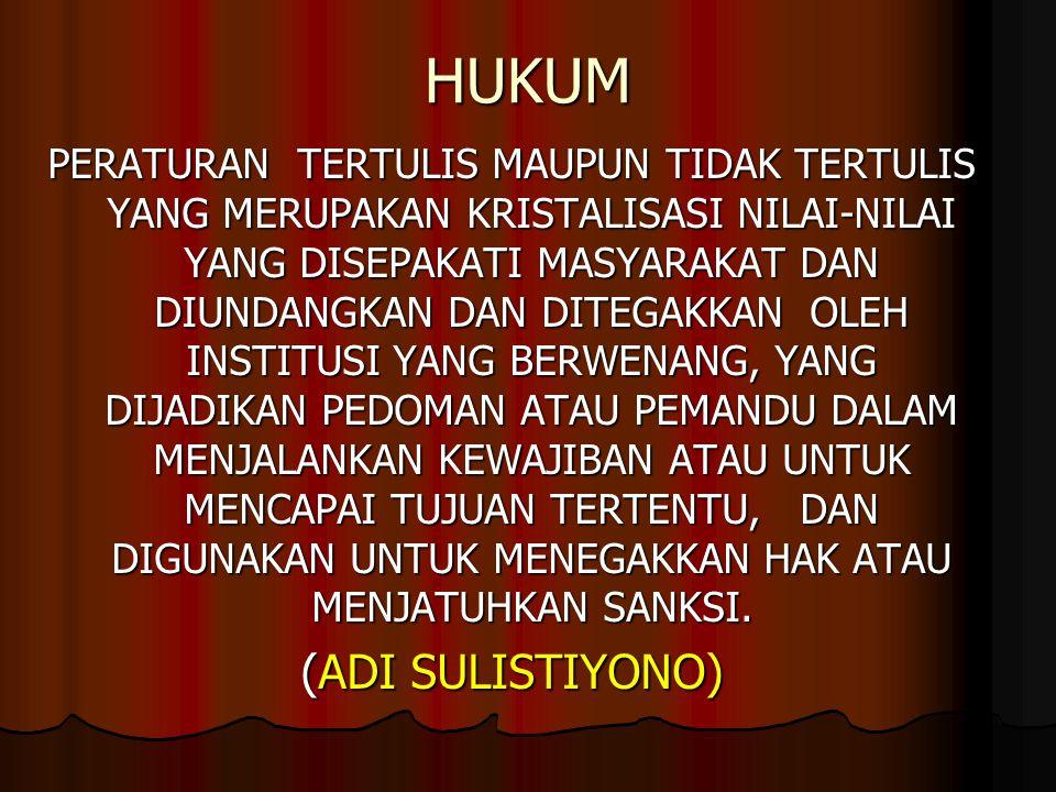 HUKUM (ADI SULISTIYONO)