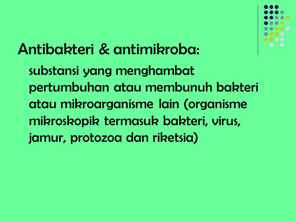 Antibakteri & antimikroba:
