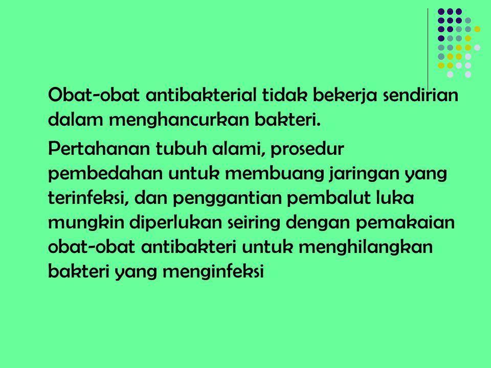 Obat-obat antibakterial tidak bekerja sendirian dalam menghancurkan bakteri.