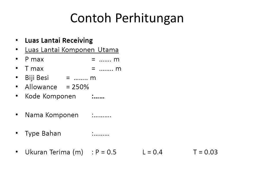 Contoh Perhitungan Luas Lantai Receiving Luas Lantai Komponen Utama