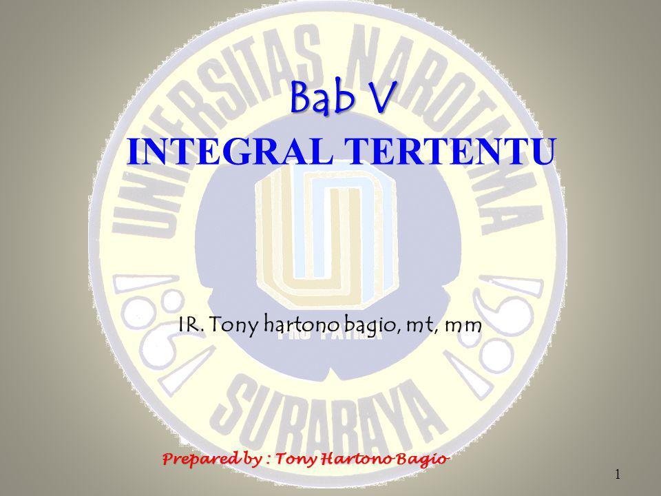 Bab V INTEGRAL TERTENTU