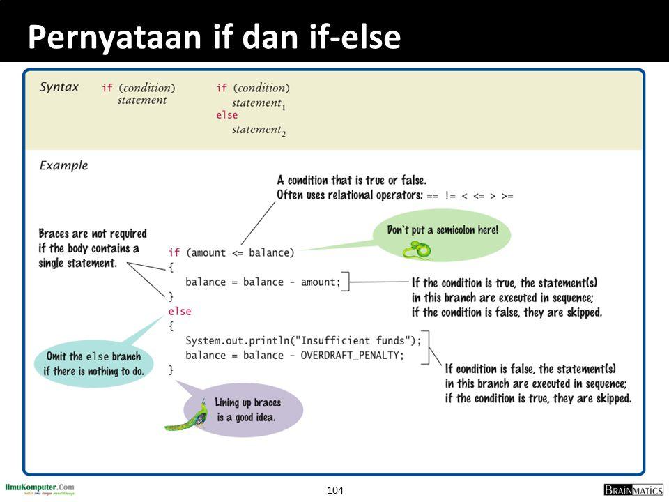 Pernyataan if dan if-else