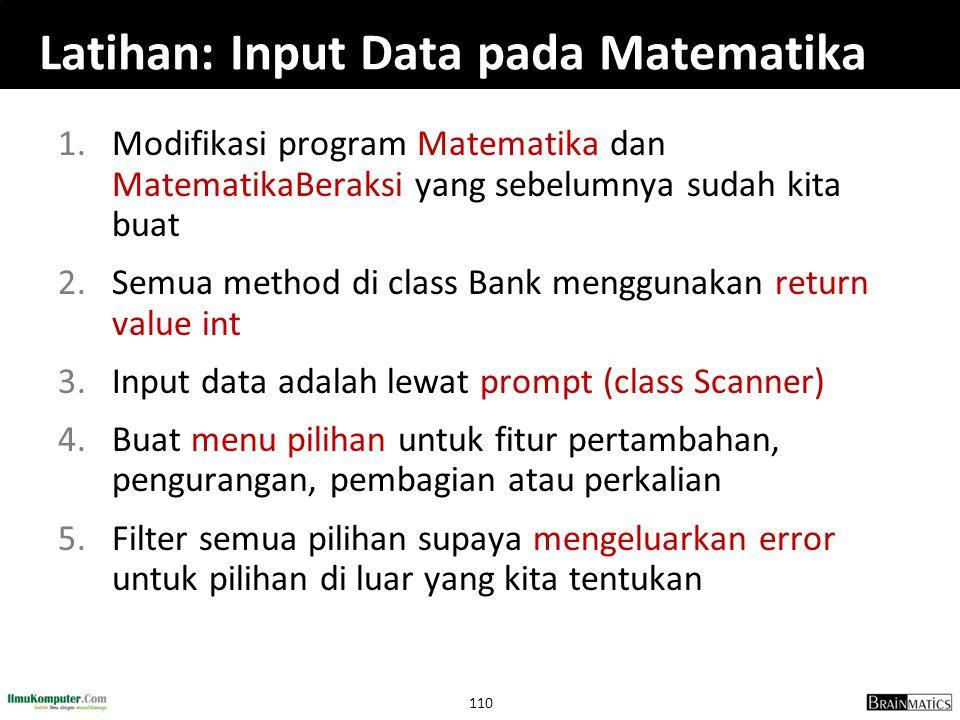 Latihan: Input Data pada Matematika