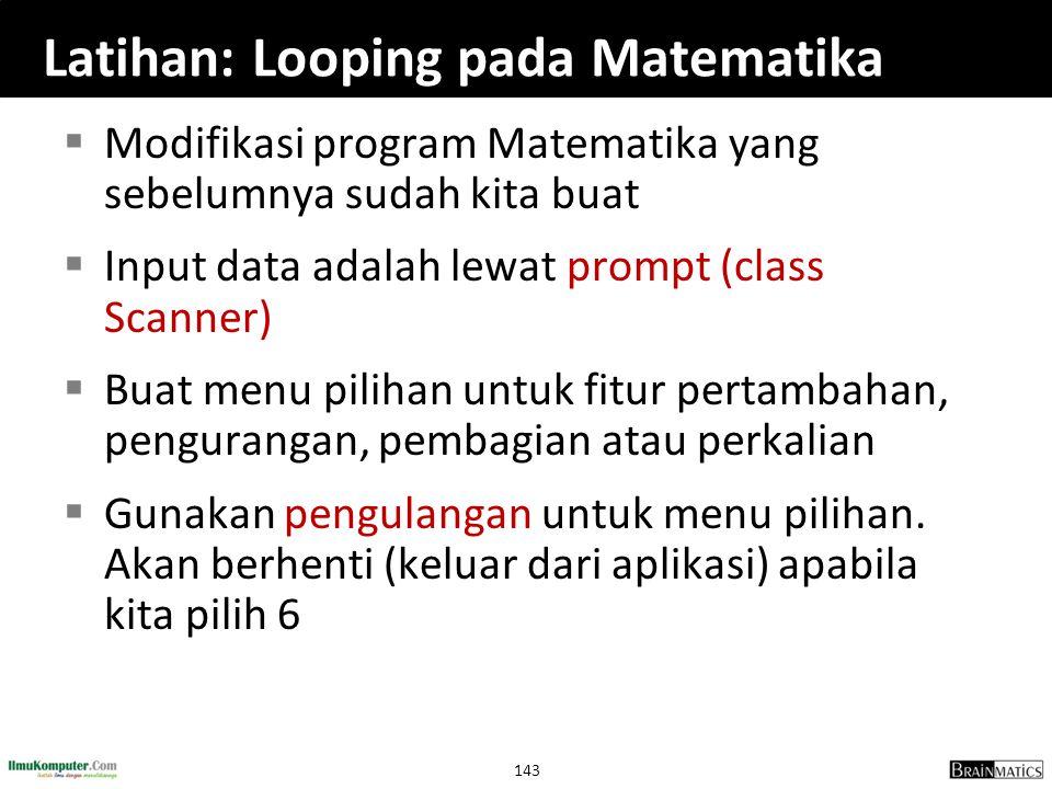 Latihan: Looping pada Matematika