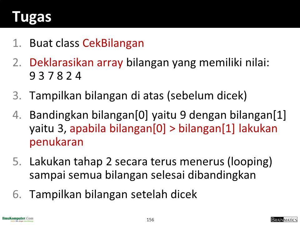 Tugas Buat class CekBilangan