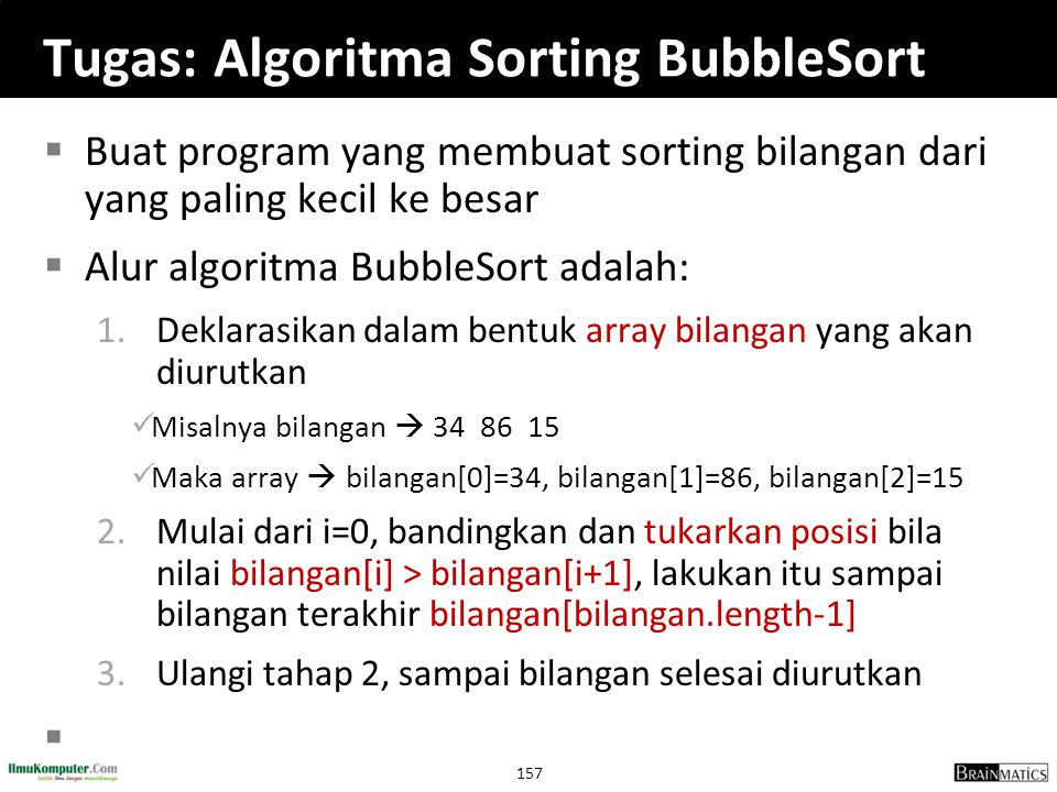 Tugas: Algoritma Sorting BubbleSort