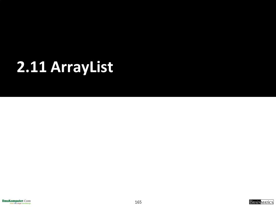 2.11 ArrayList